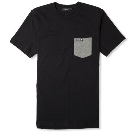 Senlak Contrast Pocket T-shirt - Black